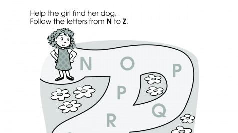 Alphabet N-Z Maze