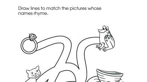 Rhyming Words Maze