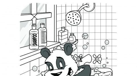 Hidden Pictures Bath Time Panda