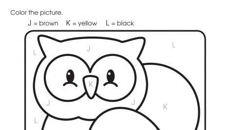 Color By Letters J, K, L