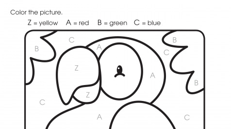 Color By Letters Z, A, B, C
