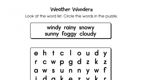 Word Search Puzzle Weather Wonders