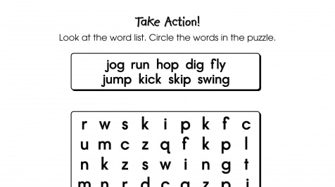 Word Search Puzzle Verbs