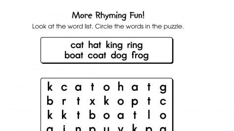 Writables & Printables Rhyming Word Search | Anywhere Teacher