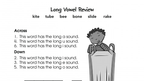 Crossword Puzzle Long Vowels