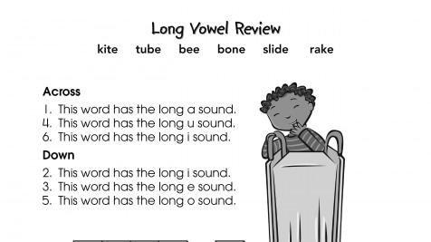 Crossword Puzzle Long Vowels
