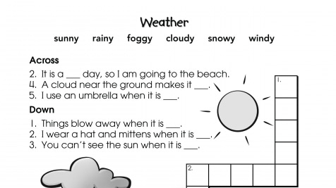 Crossword Puzzle Weather