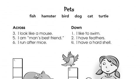 Crossword Puzzle Pets