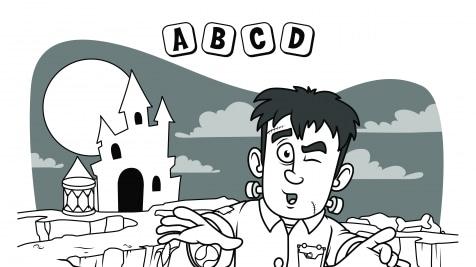 Alphabet Hidden Pictures A-D