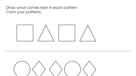 Complete The Pattern: Shapes 1