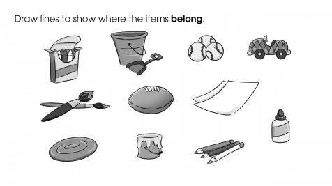 Match the Items to Where They Belong