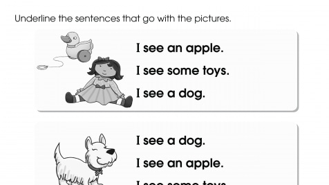 Matching Sentences to Pictures