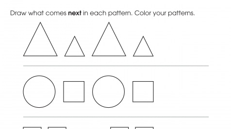Complete & Color The Shape Patterns