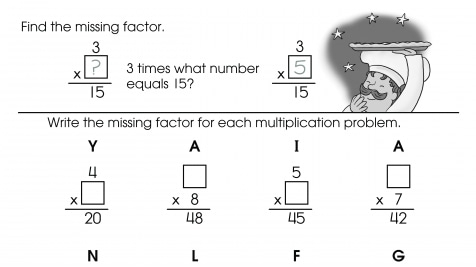 Write the Missing Factors