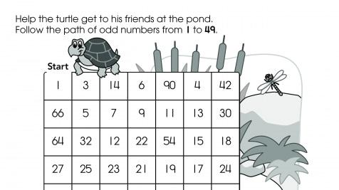 Odd Number Math Maze