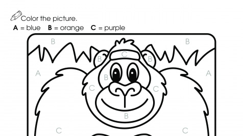 Gorilla Color by Letters