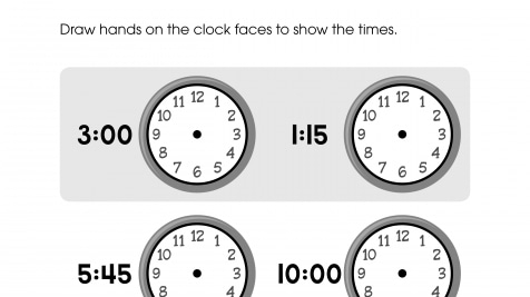 Draw the Clock Hands