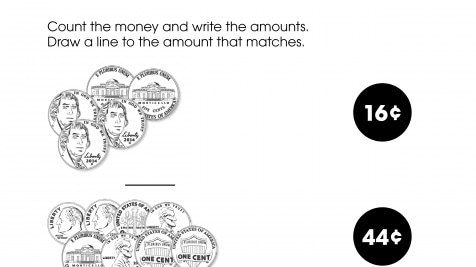 Counting Money then Match the Total