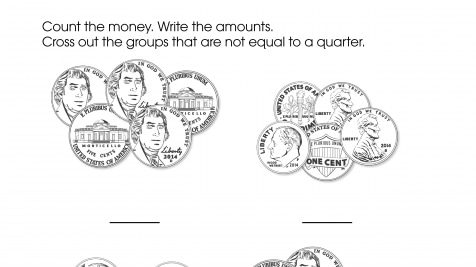 Counting Money that is Equal to a Quarter
