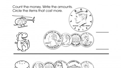Counting, Spending Money & What Costs More?