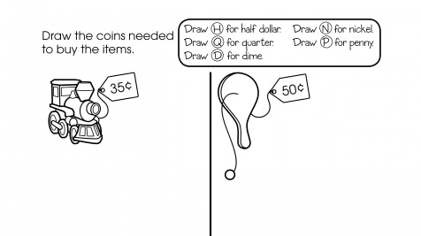 Counting & Spending Money, then Drawing Coins
