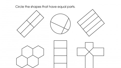 Equal Part Fractions 1/4