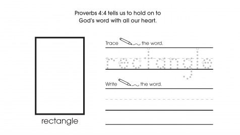 Inspirational Trace, Write & Draw Rectangles