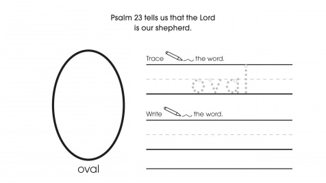 Inspirational Trace, Write & Draw Ovals