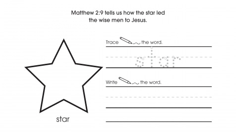 Inspirational Trace, Write & Draw Stars