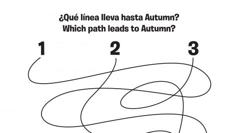 Spanish & English Autumn 1-2-3 Spaghetti Maze