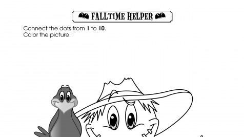 Halloween Dot-to-Dot 1-10 Fall Time Helper