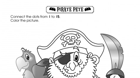 Halloween Dot-to-Dot 1-15 Pirate Pete