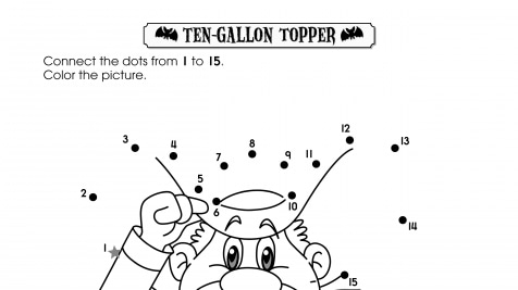 Halloween Dot-to-Dot 1-15 Ten Gallon Topper
