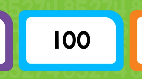 picture about Number Flash Cards Printable 1 100 known as Quantities 1-100 Flash Playing cards Any place Trainer