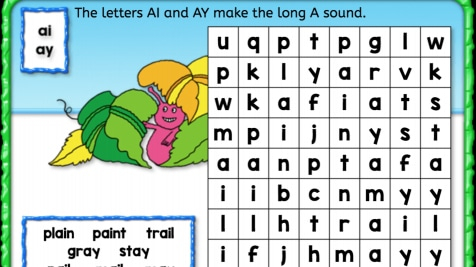 Word Search: Long 'A'