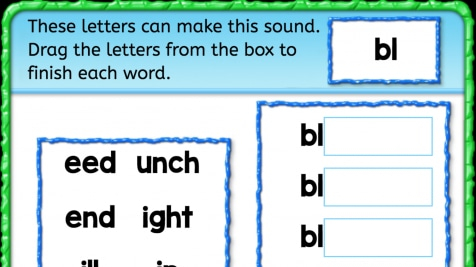 Beginning Sounds 'bl'