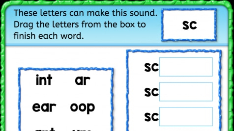Beginning Sounds 'sc'