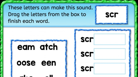 Beginning Sounds 'scr'