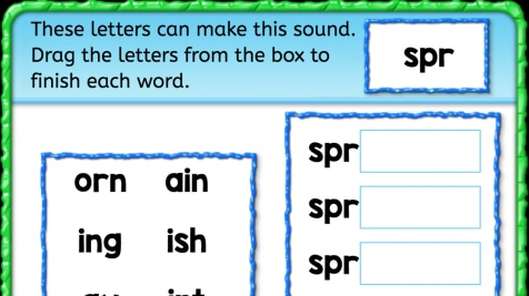 Beginning Sounds 'spr'