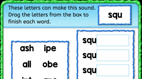 Beginning Sounds 'squ'