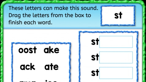 Beginning Sounds 'st'
