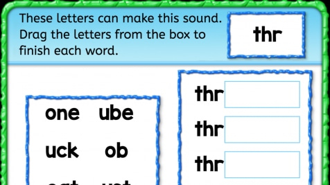 Beginning Sounds 'thr'