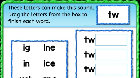 Beginning Sounds 'tw'