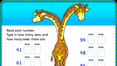 Type Tens and Ones: Place Value