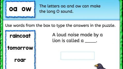 Word Bank: Long 'o' sound