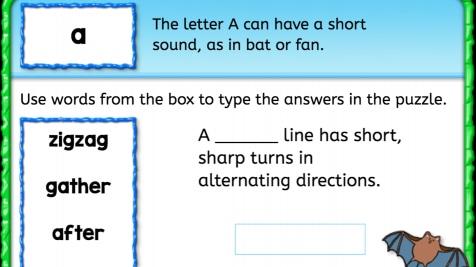 Word Bank: Short 'a'