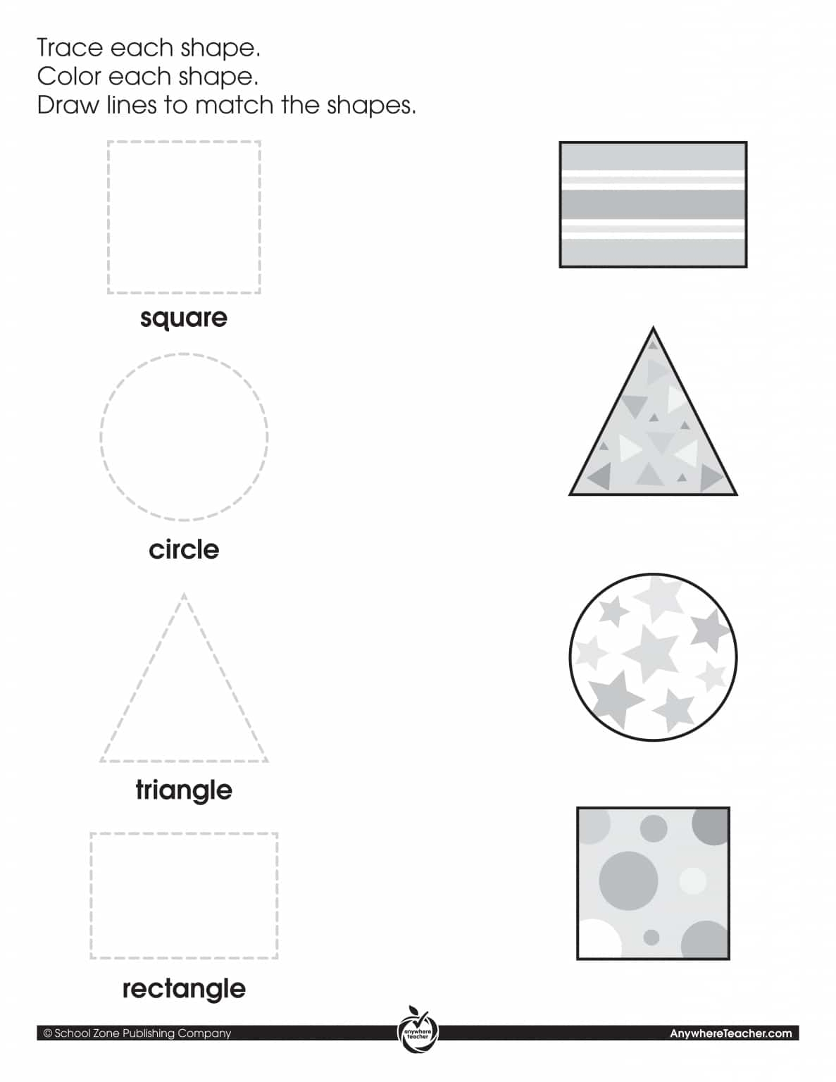 graphic relating to Color by Shape Printable identified as Hint, Shade Sport Styles Printable Things to do
